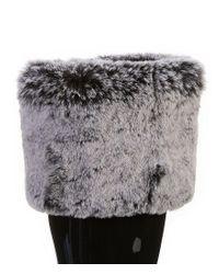 Ugg - Gray ® Shaye Faux Fur Tall Socks - Lyst