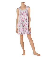 Eileen West - Pink Floral-print Lawn Chemise - Lyst