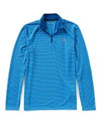 Under Armour - Gray Threadborne Quarter-zip Pullover for Men - Lyst