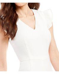 Antonio Melani - White Tina Flutter Sleeve Jumpsuit - Lyst