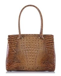 Brahmin - Brown Toasted Almond Collection Alice Work Tote - Lyst