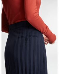 DKNY - Blue Pure Pleated Midi Skirt - Lyst