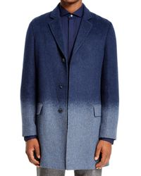 DKNY - Blue Color Block Formal Coat for Men - Lyst