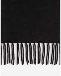 Dolce & Gabbana - Black Cashmere Scarf With Fringes - Lyst