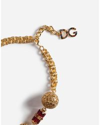 Dolce & Gabbana - Metallic Filigree Necklace - Lyst