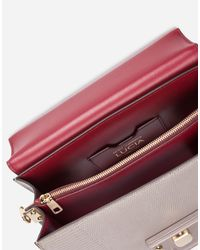 Dolce & Gabbana - Gray Leather Lucia Shoulder Bag - Lyst