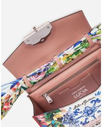 Dolce & Gabbana - Multicolor Printed Leather And Ayers Lucia Shoulder Bag - Lyst