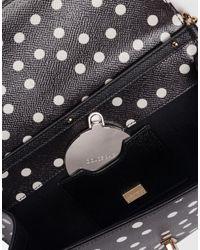 Dolce & Gabbana   Black Dolce Polka Dot Dauphine Leather Clutch   Lyst