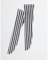Dolce & Gabbana - Black Printed Knee Highs - Lyst