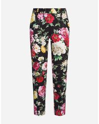 79f373dbbb0 Lyst - Dolce & Gabbana Pants In Printed Cotton Drill in Black