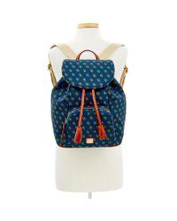 Dooney & Bourke - Blue Gretta Large Backpack - Lyst