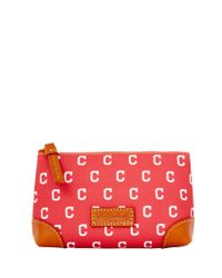 Dooney & Bourke - Red Mlb Indians Cosmetic Case - Lyst