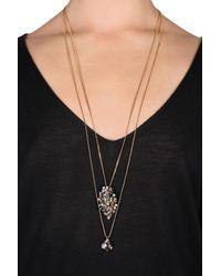 Dorothee Schumacher - Metallic Crystal Line Double Chain Fine Pendant - Lyst