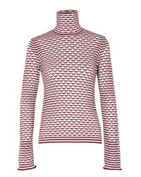 Dorothee Schumacher - Red Dance Fusion Pullover Turtleneck 1/1 - Lyst