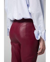 Dorothee Schumacher - Red Raw Excitement Slimfit Pants - Lyst
