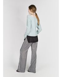 Dorothee Schumacher - Blue Drape And Dream Pullover V-neck 1/1 - Lyst
