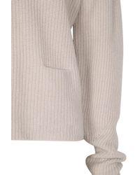 Dorothee Schumacher   Gray Drape And Dream Pullover V-neck 1/1   Lyst