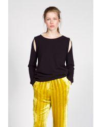 Dorothee Schumacher - Black Drape And Dream Pullover 1/1 - Lyst