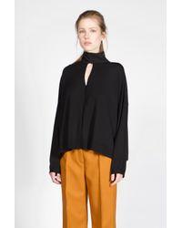 Dorothee Schumacher - Black Cool Glaze Pullover O-neck 1/1 - Lyst