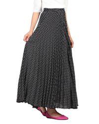 Dorothy Perkins Jolie Moi Black Polka Dot Maxi Skirt