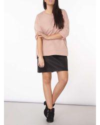 Dorothy Perkins Pink Dp Curve Rose 3/4 Sleeve Sweatshirt