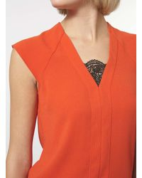 Dorothy Perkins - Black Orange Double Layer Top - Lyst