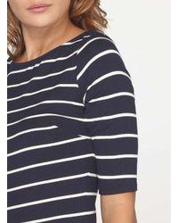 Dorothy Perkins - Blue Tall Stripe Rib Bodycon Dress - Lyst