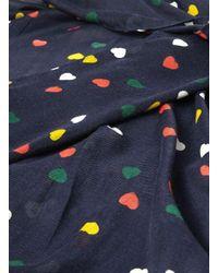 Dorothy Perkins - Blue Navy Multi Heart Print Snood - Lyst