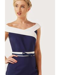 Dorothy Perkins - Blue Paper Dolls Navy Contrast Dress - Lyst