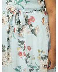 Dorothy Perkins - Green Billie & Blossom Curve Sage Floral Soft Belt Skater Dress - Lyst