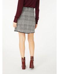 Dorothy Perkins Black And White Checked Skirt