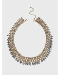 Dorothy Perkins | Metallic Facet And Seed Bead Necklace | Lyst