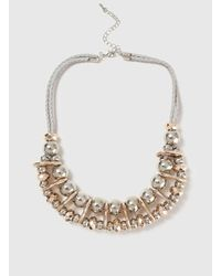 Dorothy Perkins | Gray Ball And Space Collar Necklace | Lyst