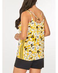 Dorothy Perkins - Orange Ochre Floral Print Sport Camisole Top - Lyst