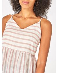 Dorothy Perkins - Multicolor Vero Moda Pink And White Striped Floaty Blouse - Lyst