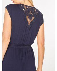 Dorothy Perkins - Blue Navy Crochet Back Maxi Dress - Lyst