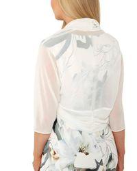 Dorothy Perkins - White Roman Originals Ivory Chiffon Bolero Jacket - Lyst