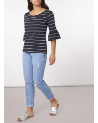 Dorothy Perkins - Blue Only Navy And White Stripe Jumper - Lyst