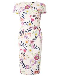 Dorothy Perkins - White Ivory Floral Pencil Dress - Lyst