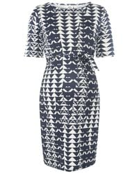 Dorothy Perkins - Blue Mamalicious Maternity Monochrome Shift Dress - Lyst