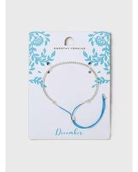 Dorothy Perkins - Blue Silver December Birthstone Bracelet - Lyst