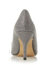 Dorothy Perkins - Gray Head Over Heels Head Over Heels 'andrina' Pointed Court Shoes - Lyst