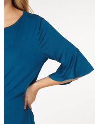 Dorothy Perkins - Maternity Teal Blue Double Layer Sleeve Top - Lyst