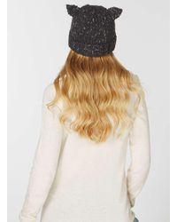 Dorothy Perkins | Gray Charcoal Cat Ears Beanie Hat | Lyst