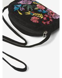 Dorothy Perkins - Pieces Black Velvet Crossbody Bag - Lyst