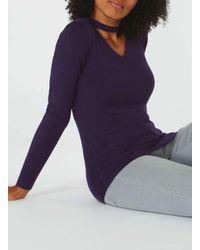 Dorothy Perkins | Purple Knitted Choker Neck Jumper | Lyst