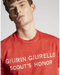 DSquared² - Red Scout's Honor T-shirt for Men - Lyst