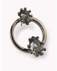 DSquared² - Black Jeweled Hoop Earrings - Lyst
