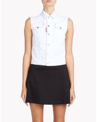 DSquared² - White Vest - Lyst