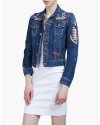 DSquared² | Blue Embellished Denim Jacket | Lyst